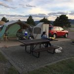 Camping with Cloudy Skies