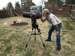 Got a new 6-inch SCT and Celestron Evolution mount. Use my iPad or iPhone to celestron a star, planet, nebula, etc. then mount automatically points the scope .